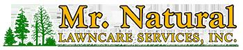 Mr. Natural lawn care logo