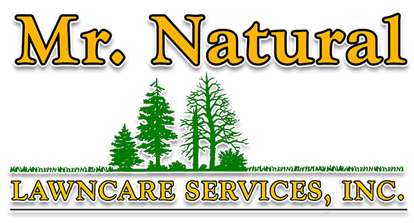Mr. Natural lawn care logo